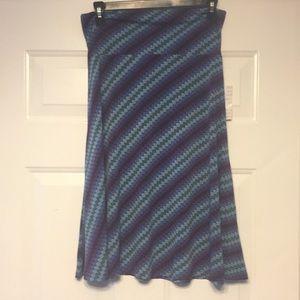LuLaRoe Medium Azure Skirt NWT